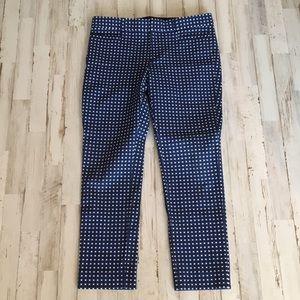 Banana Republic Sloan pants blue pattern size 8